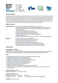 Sample Resume For Entry Level Bank Teller Web Developer Resumes Template Examples