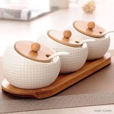 vasetti portaspezie qualità vasi condimento portaspezie cucina bianco ceramica