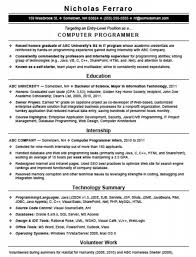 Programmer Resume Template The Most Awesome Entry Level Programmer Resume Resume Format Web