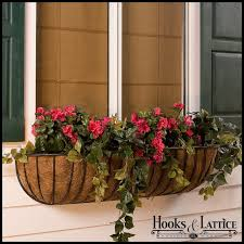 hayrack iron wall planters garden wall planter hooks and lattice