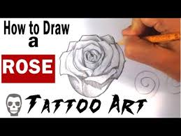 pk draw how to draw a rose tattoo art youtube