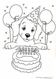 birthday lisa frank dog coloring pages 2823 lisa frank dog