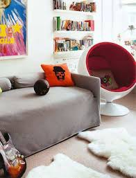 modern egg white and red teen bedroom chairs cool and comfy teen