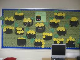 kinder doodles pots of gold bulletin board