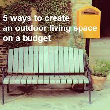 Diy Outdoor Living Spaces - outdoor living spaces on a budget home decor ryanmathates us