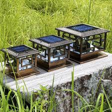 cheap led garden lights led lighting source long working time solar pillar light d25 h22cm
