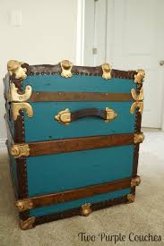 beautiful travel trunks how to paint a vintage trunk two purple couches
