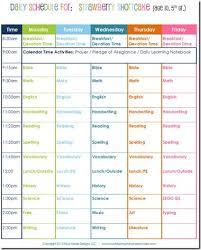 homeschool daily schedule template faceboul com
