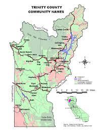 Eureka California Map Weaverville California Trinity County Maps