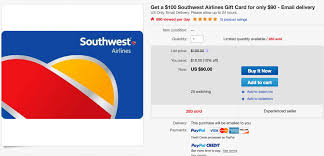 Buy Giftcards With Paypal by Save Up To 15 On Southwest On Top Of The Southwest Sale