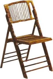rental folding chairs rental bamboo folding chair 6 50 weston events luxury party