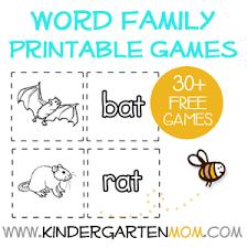 word family printables