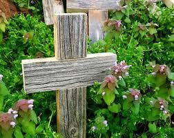 christian easter baskets rustic easter cross etsy