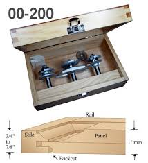 router bits for cabinet door making 3 pc cabinet door router bit sets w backcutter setup block