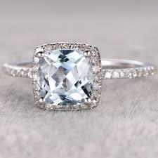 aquamarine and diamond ring aquamarine engagement rings white gold aquamarine birthstone ring