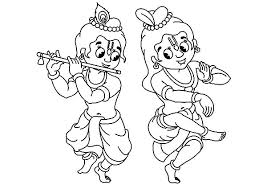 krishna good balarama coloring pages download