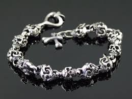 solid sterling silver mens bracelet images Japan gothic jewelry solid thick and heavy 925 sterling silver jpg