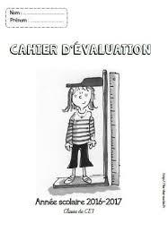 Page de garde  cahier dévaluation  CPCE1CE2CM1CM2  Fée des