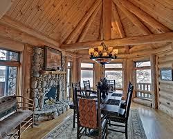 beautiful log home interiors lake blue ridge cabin georgia interior dining room home