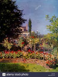the monet family in their garden at argenteuil monet garden painting stock photos u0026 monet garden painting stock