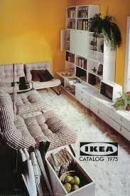 the 1962 ikea catalog cover featured a cozy living room office