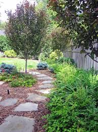 river rock walkway landscape traditional with stepping stones