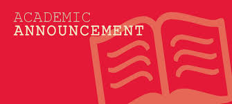 academic announcement faculty of arts and sciences