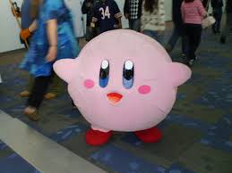 kirby costume i would totally wear this to the mall and see what