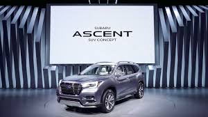 suv subaru 2017 subaru ascent suv concept 2017 new york international auto show
