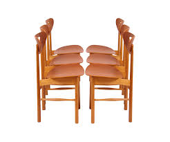 Vintage Oak Dining Chairs Swedish Teak U0026 Oak Dining Chairs U2013 Danish Modern L A