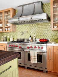 kitchen style contemporary country kitchen green glass tile