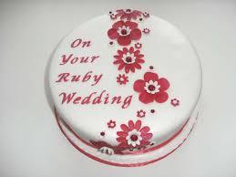 ruby wedding cakes ruby wedding cake ideas idea in 2017 wedding