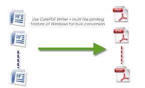 convert pdf to word cutepdf pro how to bulk convert ms word documents to pdf using cutepdf writer