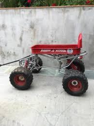 radio flyer wagon custom built 4x4 on a small atv chassis for
