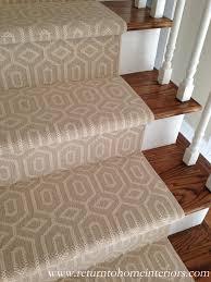 Stair Rug Decoration Minimalist Venetian Flatweave Stair Runners Washable