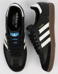 black samba adidas samba og trainers black white gum shoes leather mens