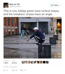 Meme Sneakers - this is why adidas pants have vertical stripes and the sneakers