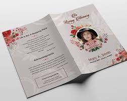 funeral program design trifold funeral program template memorial program obituary