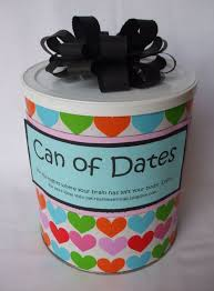 my creative stirrings creative wedding gift idea can of dates