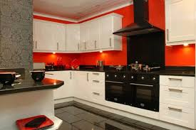 Orange And White Kitchen Ideas Black And White Kitchen Tiles Design Black And White Kitchen Wood