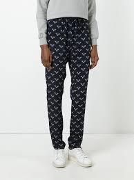markus lupfer bumble bee print track pants black women clothing