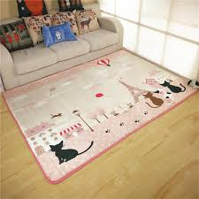 Funny Area Rugs Japanese And Korean Style Funny Cartoon Cat Carpet Living Room