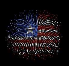 Iron On American Flag Large Fireworks Flag Usa 4th Of July United States American Flag
