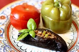 az cuisine stuffed eggplants peppers and tomatoes az cookbook