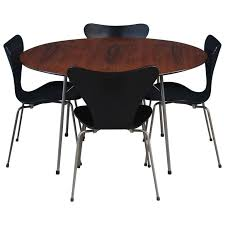 Arne Jacobsen Dining Chairs Dining Set By Arne Jacobsen At 1stdibs