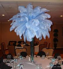 Ostrich Feather Centerpiece Aaa Quality 6 12 Inch White Color Ostrich Feather Plume For Flower