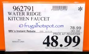 Costco Water Ridge Faucet Costco Sale Water Ridge Euro Style Pull Out Kitchen Faucet 48 99