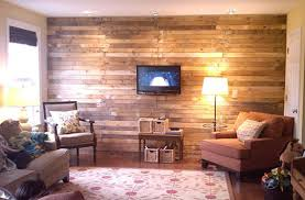 rustic wall made of salvaged wood pallets building