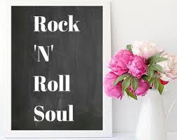 rock n roll decor etsy