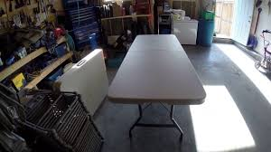Costco Plastic Table Costco 6 Foot Folding Table Review And Overview Youtube